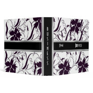 Avery Binder Black & White Style Floral