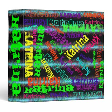 Beach Themed Avery Binder Colorful Custom Name Collage