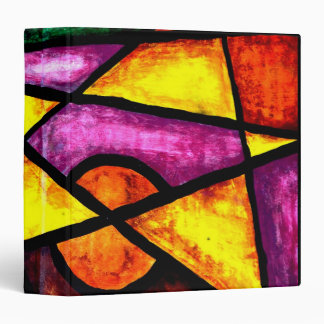 Avery Binder, Comet Chaser Acrylic Painting 3 Ring Binder