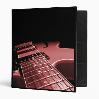 Avery Binder Electric Guitar Close Up - Red