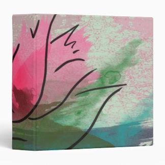 Avery Binder, Pink Flower Painting Binder
