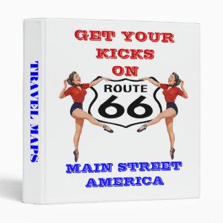 "Avery Binder Retro ""KICKS"" ROUTE 66 TRAVEL MAPS"