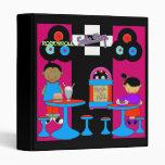 Avery Binder Retro Rock'n'Roll Soda Shop Kids 3 Ring Binders