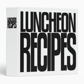Avery Binder, Tall Skinny Text, Luncheon Recipes