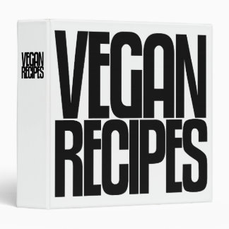 Avery Binder, Tall Skinny Text, Vegan Recipes Binder