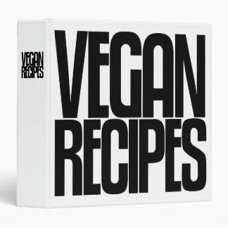 Avery Binder, Tall Skinny Text, Vegan Recipes Binder