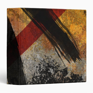 Avery Binder, The Scar, Digital Abstract Painting 3 Ring Binder