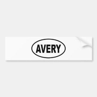 AVERY CAR BUMPER STICKER