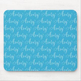 Avery - diseño moderno del nombre de la caligrafía mousepads