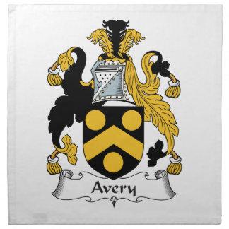 Avery Family Crest Napkin