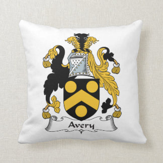 Avery Family Crest Throw Pillow