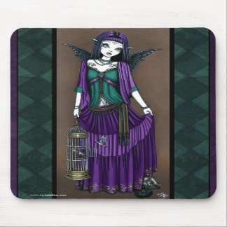 """Avery"" Gothic Angel Bird Cage Mousepad"