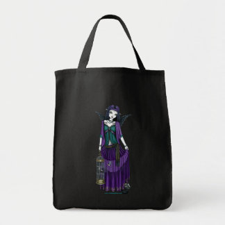 """Avery"" Gothic Angel Bird Cage Tote Bag"