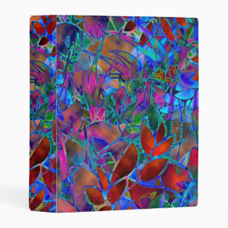Avery Mini Binder Floral Abstract Stained Glass