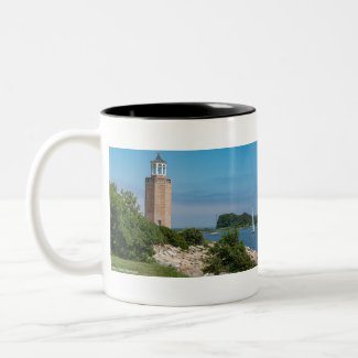 Avery Point Light Two-Tone Coffee Mug