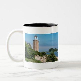 Avery Point Light Two-Tone Coffee Mug