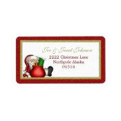 Avery Santa Address Label label