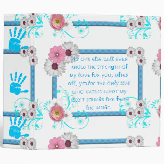 "Avery Signature 2"" Binder/Baby Boy with Quote 3 Ring Binder"