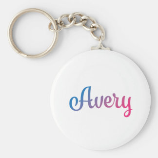 Avery Stylish Cursive Keychain