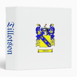 Avery Tillotson Heraldry Genealogy Binder