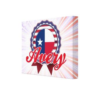 Avery, TX Impresión En Lona Estirada