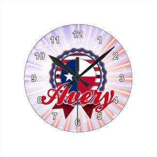 Avery, TX Reloj De Pared