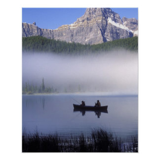 Aves acuáticas nacional del lago, Banff de la pesc Póster
