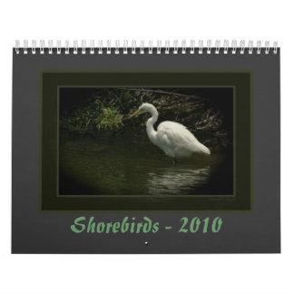 Aves costeras - 2010 calendario de pared