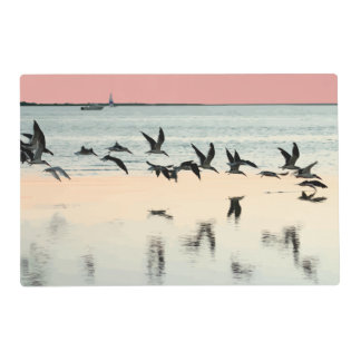Aves costeras de la playa tapete individual