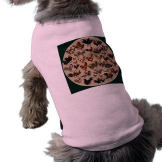Aves de corral del pollo del mundo camisetas de perrito