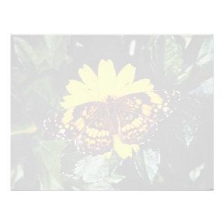 Aves de selva, flores del gallus del Gallus Membrete Personalizado