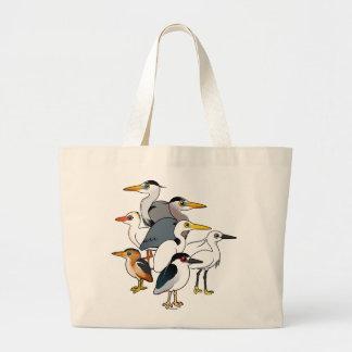 Aves zancudas de encargo bolsa tela grande