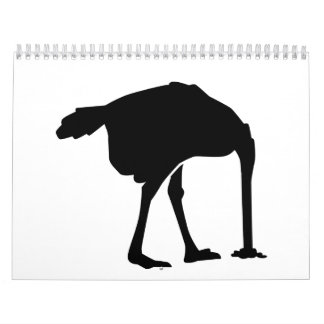 Avestruz Calendario De Pared
