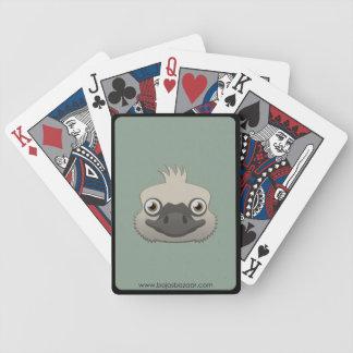 Avestruz de papel barajas de cartas
