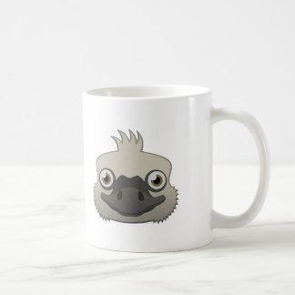 Avestruz de papel taza de café