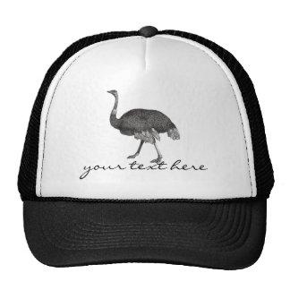 Avestruz del vintage gorras de camionero