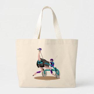 Avestruz el competir con de arnés bolsa lienzo