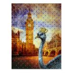 Avestruz en Londres Tarjetas Postales