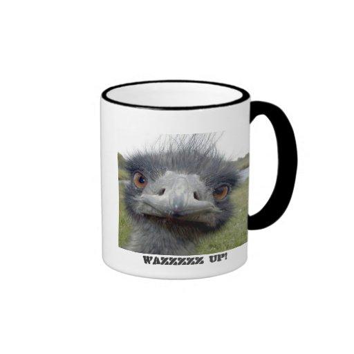 Avestruz gris taza a dos colores