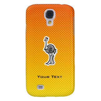 Avestruz linda; Amarillo-naranja Funda Para Galaxy S4