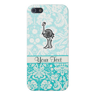 Avestruz linda del dibujo animado iPhone 5 funda