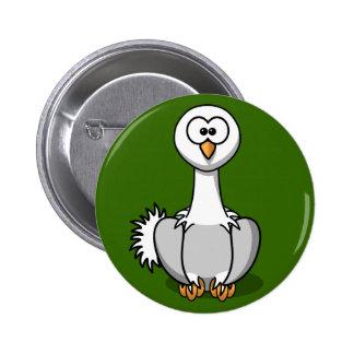 Avestruz linda en el Pin del botón de la hierba ve