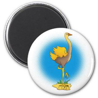 Avestruz linda - imán