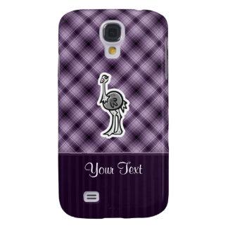 Avestruz linda; Púrpura Funda Para Galaxy S4