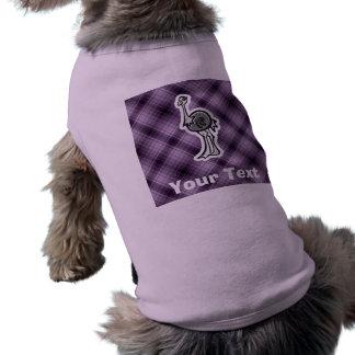Avestruz linda; Púrpura Playera Sin Mangas Para Perro