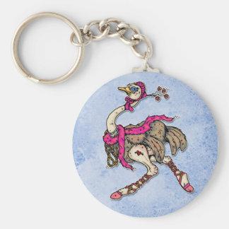 avestruz llavero redondo tipo pin