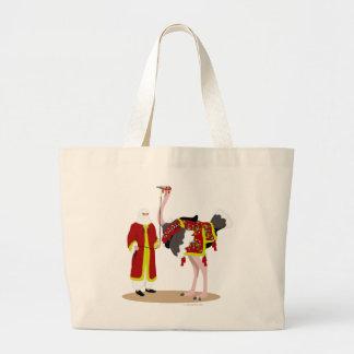 Avestruz nativa árabe del traje bolsas de mano