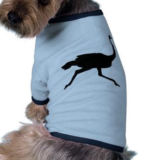 Avestruz rápida camiseta con mangas para perro