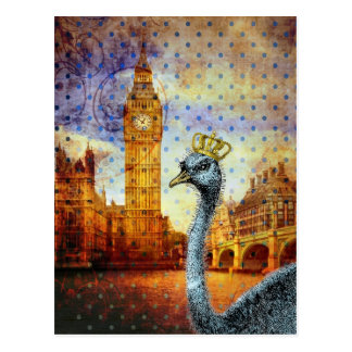 Avestruz real en Londres Tarjetas Postales