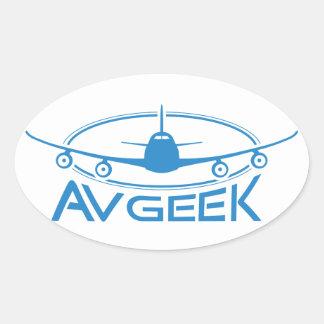 AvGeek Apparel Oval Sticker